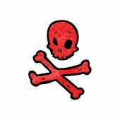 red skull and crossbones symbol