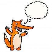 drooling hungry fox cartoon