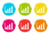 Icons of a barchart in some colors