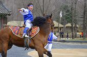 Participants a the Equestrian Feats act
