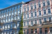 Restored houses in Berlin-Prenzlauer Berg