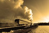 Antiguo tren a vapor Retro