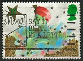 UK - CIRCA 1985: A stamp printed in UK shows image of The Christmas. Pantomime Characters, circa 198