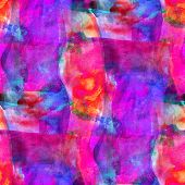 art seamless pink, blue, red texture background, watercolor abst