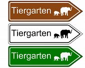 Direction Sign Zoo