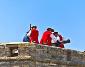 Historical Weapons Demonstration In  Castillo De San Marco In Original Costumes