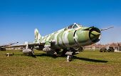 Togliatti, Russia - May 2: Russian Military Jet Fighter Plane Sukhoy Su-17 At The Exhibition In The