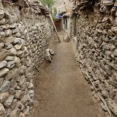 foto of karakoram  - Poor Village in the Karakorum Mountains in Northern Pakistan - JPG