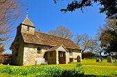 Old English Country Church in Spring 2