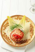 Gourmet rissole on a plate