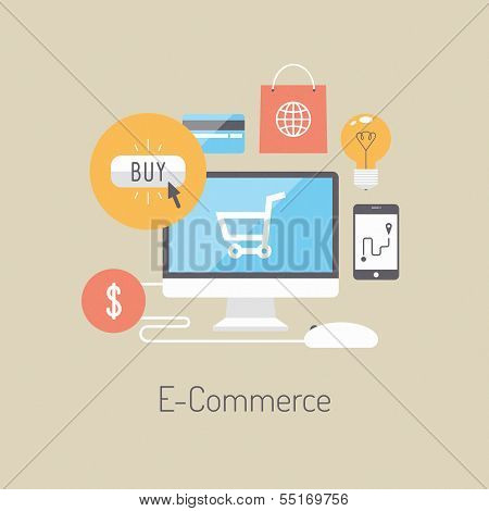 E-commerce Flat Illustration Concept poster