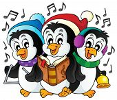 Christmas penguins theme image 1 - eps10 vector illustration.