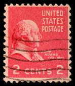 USA - CIRCA 1938: Postage stamps printed in USA, shows President of the United States, John Adams, c