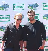 Swedish DJ duo Cazzette attends the Arthur Ashe Kids Day 2013 at Billie Jean King National Tennis C