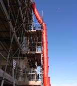 Red Building Site Chute