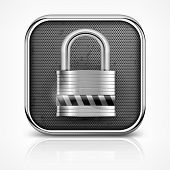 Padlock Icon On White