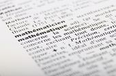 Dictionary At The Word Mathematiques