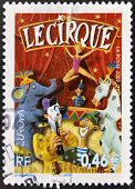 FRANCE - CIRCA 2002: A stamp printed in France dedicated to circus circa 2002