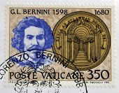 Stamp printed in Vatican shows Gian Lorenzo Bernini