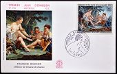A stamp printed in France shows Diana after the Hunt by Boucher