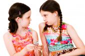Caucasian Girls Listening Mp3