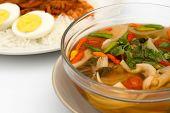 Vegetarian Thai Food Mushroom Tom Yum Soup