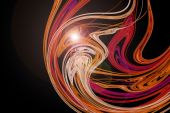 Trendy Abstract Design With Pink Light Waves