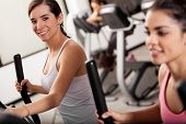 Taking an elliptical training class