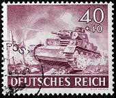 German Tank Stamp
