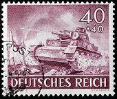 German Tank Stamp