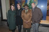 NEW YORK-DEC 4: (L-R) Natalie Morales, Savannah Guthrie, Al Roker and Matt Lauer attend the 81st Annual Rockefeller Center Christmas Tree Lighting Concert on December 4, 2013 in New York City.