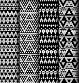 Set of four patterns.