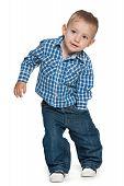 Walking Preschool Boy