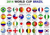 stock photo of nationalism  - World Cup Brazil 2014 flags - JPG