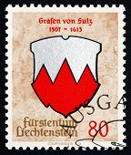 Postage Stamp Liechtenstein 1964 Arms Of Counts Of Sulz