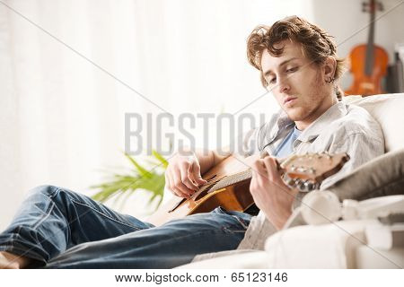 Songwriter Composing A Song poster