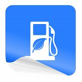 biofuel blue sticker icon