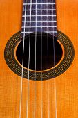 Sound Hole Of Classical Acoustic Guitar