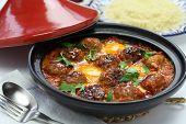 kofta tajine, kefta tagine, moroccan cuisine, lamb meatballs with eggs