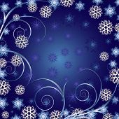 beautiful blau Christmas hintergrund