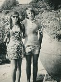 Poland, circa 1973:15 years old teenage couple in Bulgaria, circa 1973