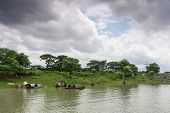 image of bangladesh  - In the rainy season on the outskirts of Dhaka capital of Bangladesh all fields are filled with water - JPG