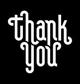 THANK YOU lettering (vector)
