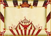 Horizontal grunge circus. a circus vintage poster for your advertising. Perfect size for a screen.