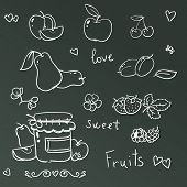 Jars with  fruits jam isolated on white