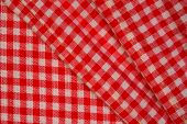 Detailed Red Picnic Cloth, Background For Design