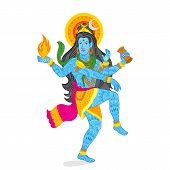 pic of shiva  - easy to edit vector illustration of Lord Shiva - JPG