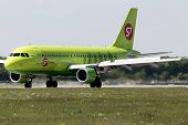 S7 - Siberia Airlines Airbus A319-114 aircraft landing on the runway