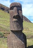 Moai at Quarry on Easter Island, Chile