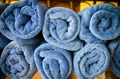 Blue Towels Pile